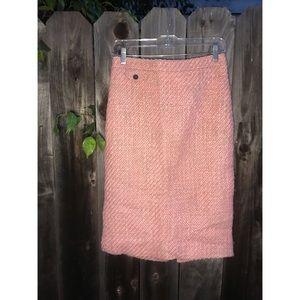 J.Crew Tweed Pencil Skirt in blush size 4/6